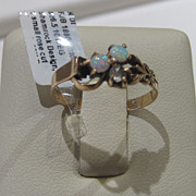 Victorian Opal Diamond Ring 12K