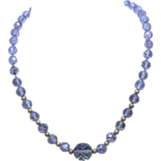 Antique Victorian Amethyst Bead Necklace