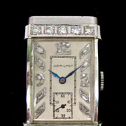 Vintage Hamilton Diamond & 14K White Gold Watch
