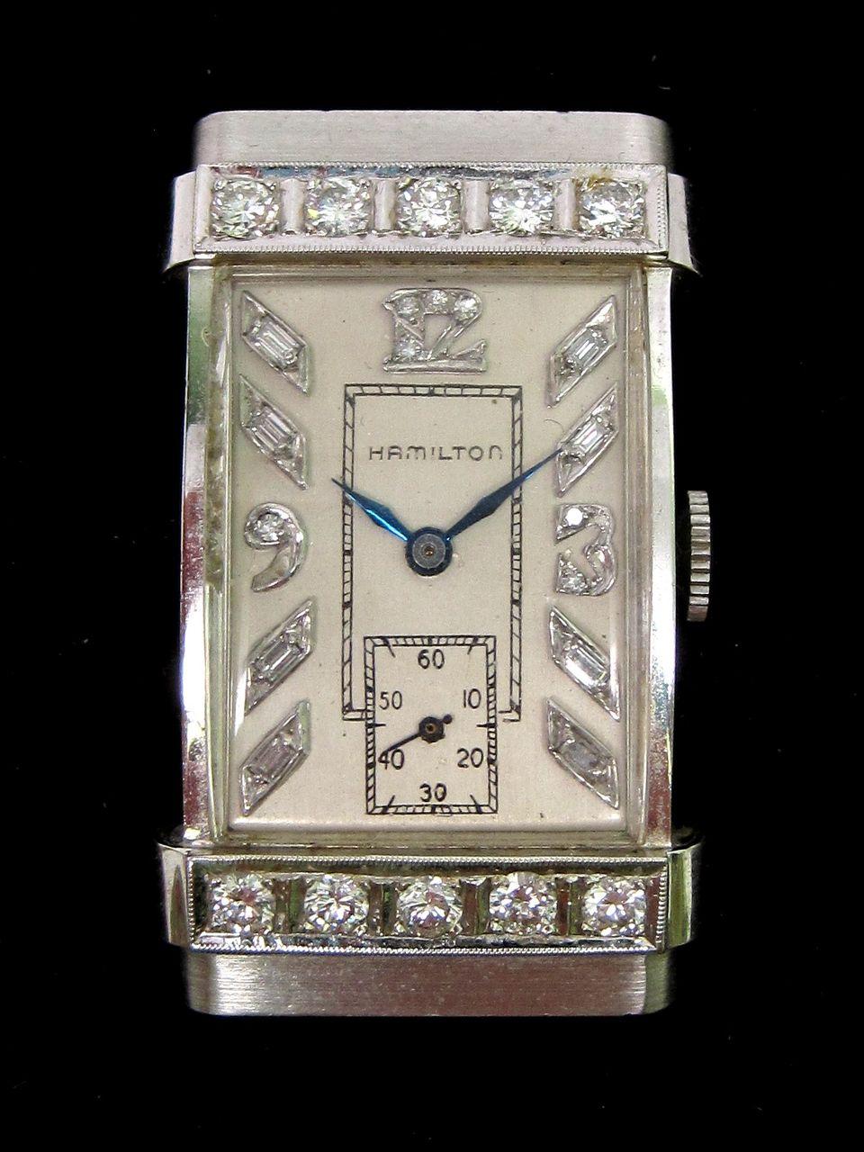 Hamilton White Gold Diamond Watch