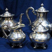 "Reed & Barton ""Regent"" 4-pc Silver Tea Set"