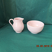 Vintage Wedgwood Alpine Pink Mini Creamer & Sugar