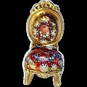18K Gold Austrian Floral Enamel Chair charm