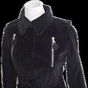 SALE Courreges Couture Mid Century Corduroy Trench Dress Original