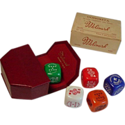 SOLD Molinard Concreta Bakelite Dice Solid Genuine Wax Perfume Orig Box Paris 1940 NEVER USED
