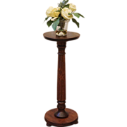 REDUCED Antique Pedestal plant Stand