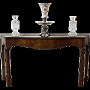 Vintage Walnut Long Narrow Console Sofa Table.
