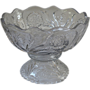 REDUCED Antique Punch Bowl, Large, Pressed Glass, New Martinsville, Carnation Pattern.