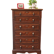 REDUCED Antique Eastlake Chest of Drawers, Walnut, American C.1880.