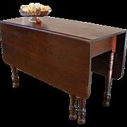 Antique Dining Table, American Mahogany Drop Leaf, Gate Leg.