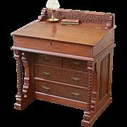REDUCED Antique Davenport Desk, Eastlake Style, Slant Top, American C.1880
