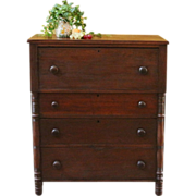 REDUCED Antique Empire Chest of Drawers. American, C.1850.