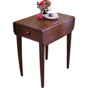 REDUCED Rustic Side Table, Drop Leaf Stand.