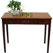 REDUCED Antique Console Table, Mahogany, Drop Leaf. C.1900
