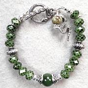 SOLD Serpents Of Ireland Bracelet Nephrite Jade Irish Connemara Marble Celtic Medieval Style