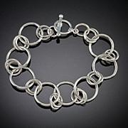 SOLD Large Sterling Silver Bracelets