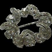 Vintage Eisenberg Clear Stone Pin with Swarovski Stones