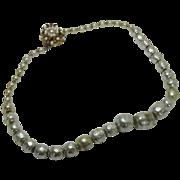 Vintage Miriam Haskell Graduated Faux Baroque Pearls