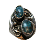 Vintage Turquoise and Silver (tested) Ring