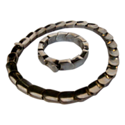 Sterling Taxco Necklace and Matching Bracelet