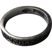 Sterling Silver Judith Jack Marcasite Eternity Band Size 6