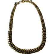 Vintage Givenchy Bold Goldtone Chain Necklace