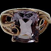 14 Karat Rose Gold 5 Ct Pink Quartz Ring