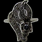 14 Karat White Gold Diamond Ring in Stunning Design
