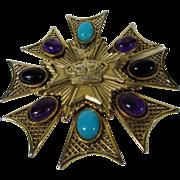 Vintage Massive Hattie Carnegie Regal Pin or Pendant