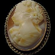 Vintage Cameo Signed 14 Karat Gold Filled Pin or Pendant