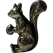 Sterling Silver Finely Detailed Squirrel Pin