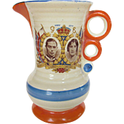 SOLD Vintage Coronation Pitcher 1937 Celebrating George VI and Queen Elizabeth With Future Que