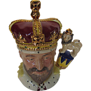 Royal Doulton King Edward VII Toby Mug Modeled by William K. Harper and Hand Decorated ...