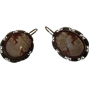 Sterling Silver Framed  Cameos in Vermeil in Euro Wires