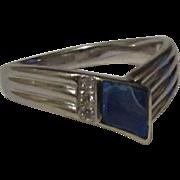 18 Karat White Gold Opal Diamond Ring