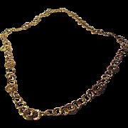 14 Karat Yellow Gold Chain Bold but Lightweight Designer Signed