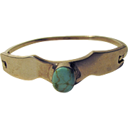 Sterling Silver Mexican Turquoise Bangle