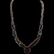 Sterling Silver Garnet Necklace