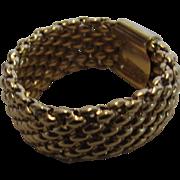 18 Karat Yellow Gold Mesh Ring