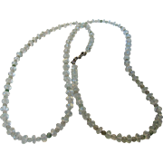 Artisan O..O.A.K. Aquamarine and Jade Bead  Necklace with Sterling Silver Serpent Themed ...