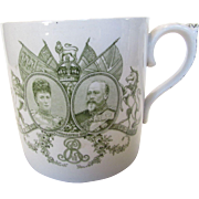 King Edward VII and Queen Alexandra 1902 Royal Coronation Commemorative Mega Mug by Royal ...