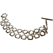 Tiffany Sterling Silver Bracelet with Toggle Closure