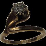 14 Karat Yellow Gold Diamond Solitaire Ring