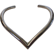 Sterling Silver Bold Rigid Necklace