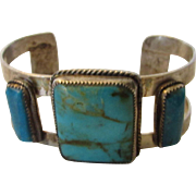 Sterling Silver Native American Turquoise Bracelet