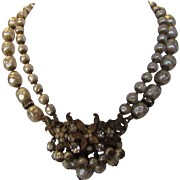 Vintage De Mario Signed Faux Pearls in Classic Necklace