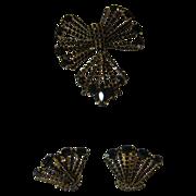 Hattie Carnegie Pin and Earring Set