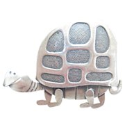 Vintage Beau Sterling Turtle with Lots of personality.