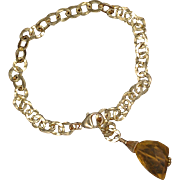 SALE Citrine and 14K Gold-Fill Chain Bracelet