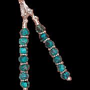 SALE Turquoise Shish Kebab Earrings